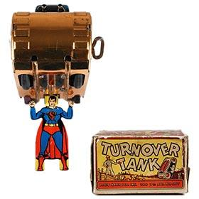 1940 Marx, Superman Turnover Tank in Original Box