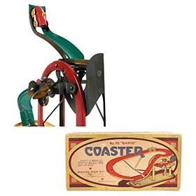 c.1925 Metal Toy Co., No.10 Rapid Coaster in Original Box