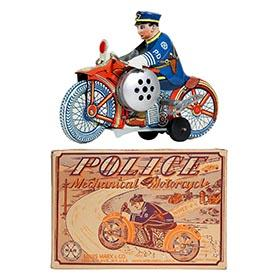 1938 Marx, Police Siren Motorcycle in Original Box