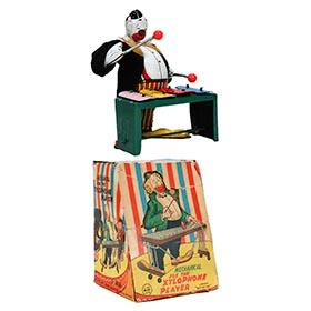c.1958 Linemar, Mechanical Joe the Xylophone Player in Original Box
