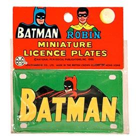 1966 Marx, Batman Robin License Plate, in Sealed Original Bag