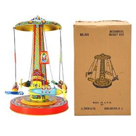 1952 Chein, No.400 Mechanical Ride-A-Rocket in Original Box