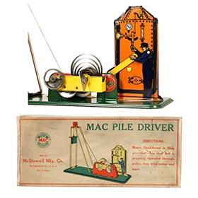 1928 McDowell Mfg. Co., MAC Pile Driver in Original Box