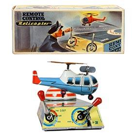 1957 Biller Nr.90 Remote Control Helicopter in Original Box