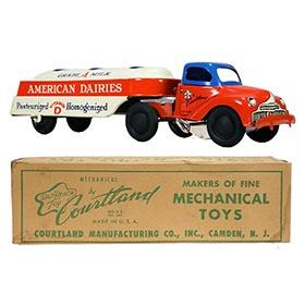 c.1948 Courtland, No.2050 American Dairies Milk Trailer Truck in Original Box