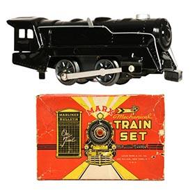1953 Marx, 5pc. Sparkling Mechanical Train Set in Original Box
