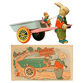 1937 Wyandotte, No. E207 Rabbit and Cart in Original Box