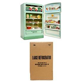 1957 Wolverine, #187 Deluxe Green Refrigerator in Original Box