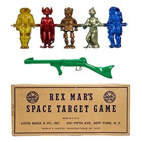 c.1950 Marx, Rex Mars Space Target Game in Original Box