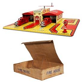 1938 Marx, General Alarm Fire House in Original Box