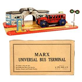 c.1937 Marx, Universal Bus Terminal in Original Box