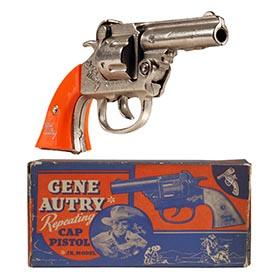 1939 Kenton, Gene Autry Repeating Cap Pistol in Original Box