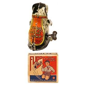 1940 Marx, Flipo the Jumping Dog in Original Box