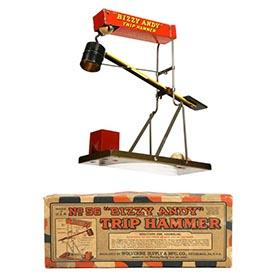 1924 Wolverine No.56 Bizzy Andy Trip Hammer in Original Box