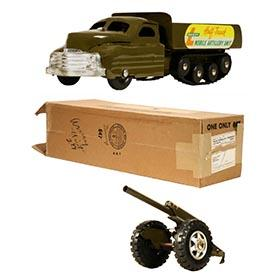 1952 Buddy L #3409 Army Half-Track & Howitzer in Original Box