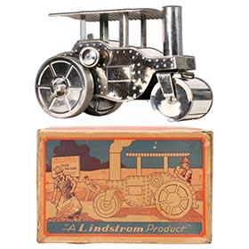c.1927 Lindstrom, Clockwork Road Roller in Original Box