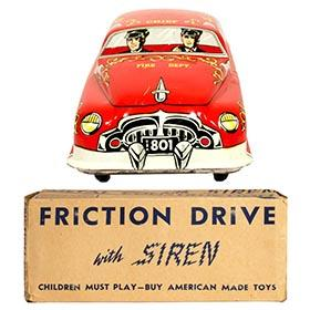 c.1951 Lupor, No.801 Fire Chief Car in Original Box
