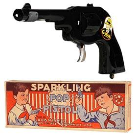 1935 Marx, G-Man Sparkling Pop Pistol in Original Box (#3)