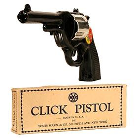 1938 Marx, The Lone Ranger Click Pistol in Original Box