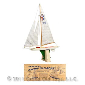 c.1950 Keystone Model 625 Racing Sailboat In Original Box