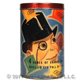 1938 Whitman, Charlie McCarthy's Flying Hats In Original Can