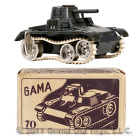 c.1947 Gama Clockwork Tank No 70 In Original Box