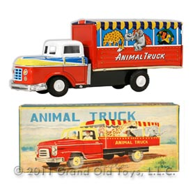 c.1950 Nishimura Friction Animal Truck In Original Box