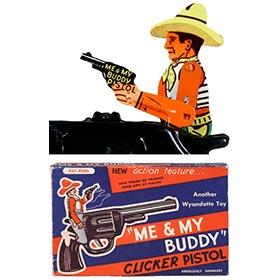 1946 Wyandotte, Me & My Buddy Clicker Pistol in Original Box