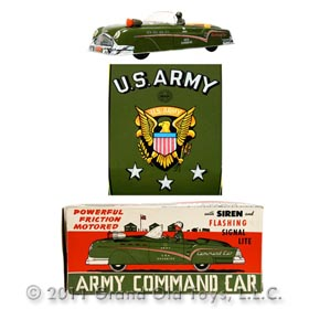 1956 Marx Large Army Command Car In Original Box
