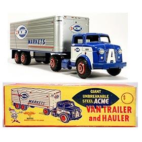 1962 Marx Acme Markets Van Trailer & Hauler in Original Box