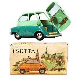 c.1957 Bandai, No.588 BMW Isetta in Original Box