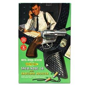 1959 Mattel, Detective Snub Nose .38 & Holster in Box