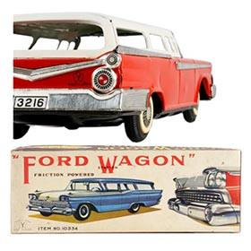 1959 Yonezawa, Ford Station Wagon in Original Box