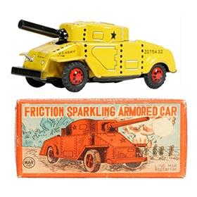 c.1955 Linemar, Sparkling Armored Car in Original Box