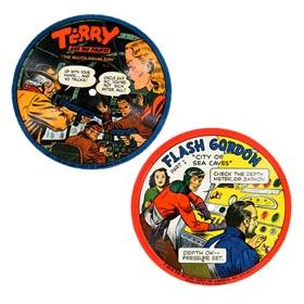 c.1948 Flash Gordon & Terry and The Pirates Picture Record Disks