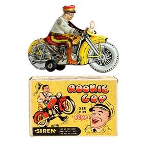 1950 Marx, Police Rookie Motorcycle Cop (Ver 2.) in Original Box