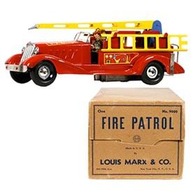 1948 Marx, Fire Patrol (Water Tower) Truck in Original Box