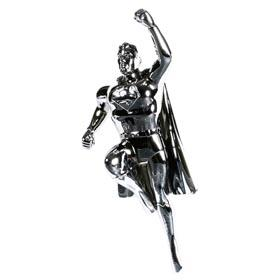 c.1960 Superman, Chrome-Plated Die Cast Metal Figure