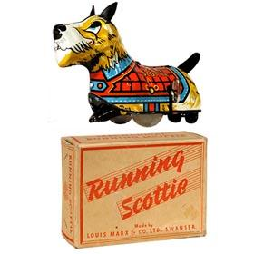 1952 Marx, Running Scottie (British Version) in Original Box