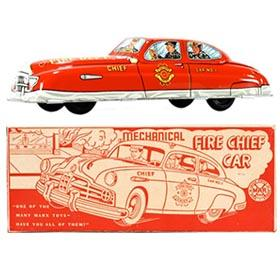 1950 Marx, Mechanical Fire Chief Car in Original Box