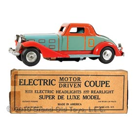 1933 Marx, Super Deluxe Electric Coupe In Original Box
