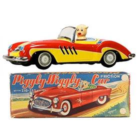 c.1956 Japan, Piggly-Wiggly Car in Original Box