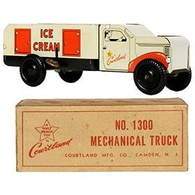 c.1952 Courtland Mechanical Ice Cream Truck in Original Box