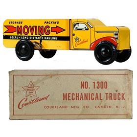 c.1952 Courtland, Mechanical Moving Van Truck in Original Box