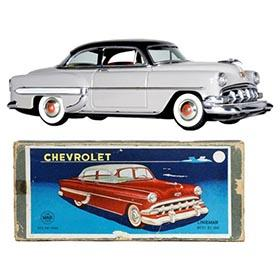 1954 Marusan (Linemar), Chevrolet 2dr. Sedan in Original Box