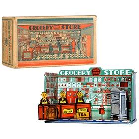 1930 Marx, Home Town Grocery Store in Original Box