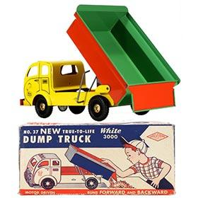 1953 Wolverine, White 3000 Mustang DumpTruck in Original Box
