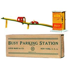 1932 Marx, Busy Parking Station in Original Box