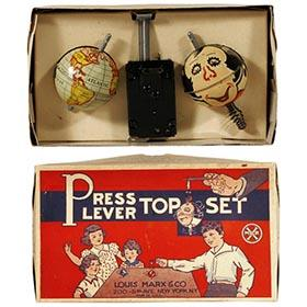 c.1930 Marx, Press Lever Top Set in Original Box