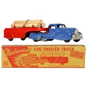 1951 Marx, Mechanical Log Trailer Truck in Original Box